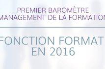 Baromètre 2016 Management de la formation