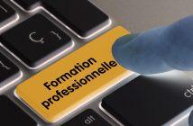 action de formation - clavier avec bouton formation professionnelle
