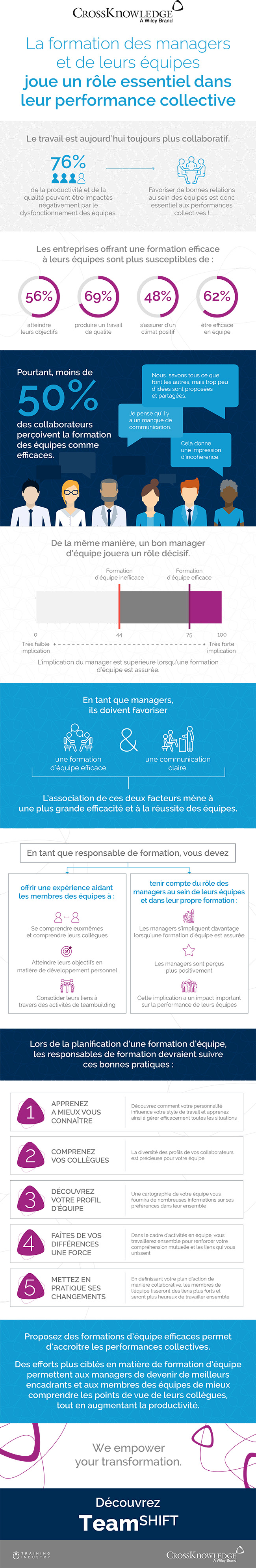 Formation d'équipe - infographie Crossknowledge - RHEXIS