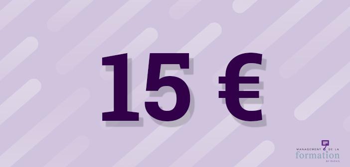 La formation en chiffres #62 : pour 15€, t'as plus rien