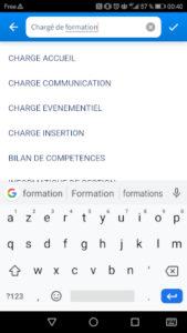 Copie d'écran appli CPF - RHEXIS