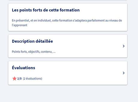 Evaluation des formations sur l'appli CPF - 2